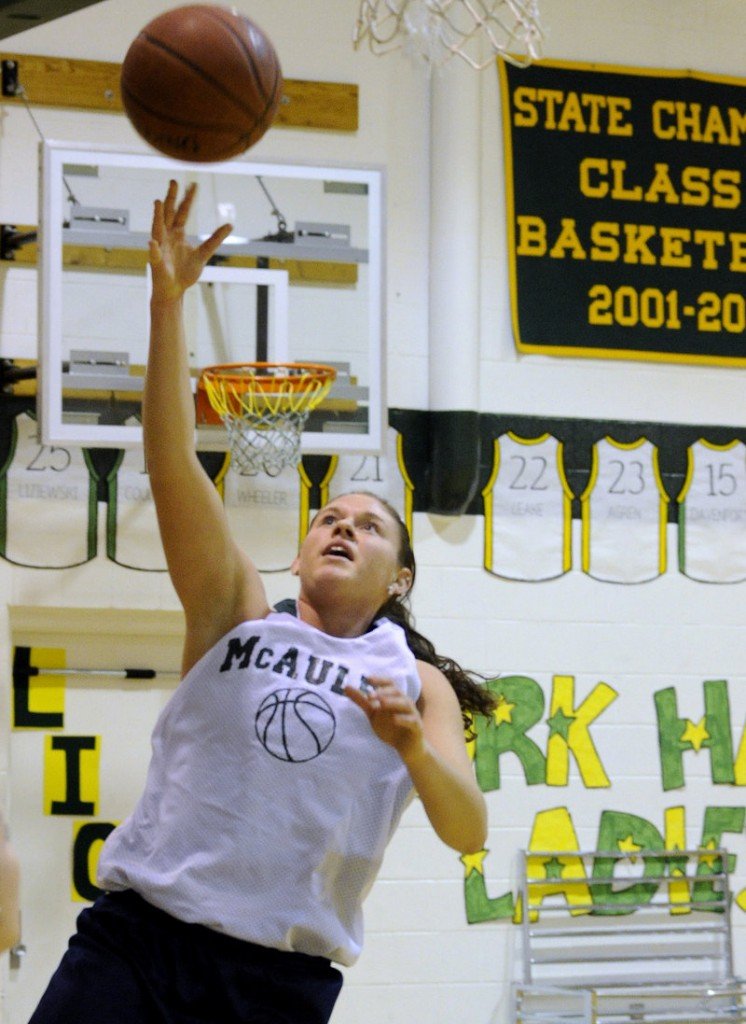 Rebecca Knight averaged 10.4 points and 7.4 rebounds last season for McAuley despite injuries.