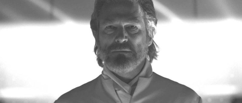 "Jeff Bridges at his natural age as the character Kevin Flynn in ""Tron: Legacy."" Bridges also inhabits an avatar whose face has been digitally altered to resemble a younger Bridges."
