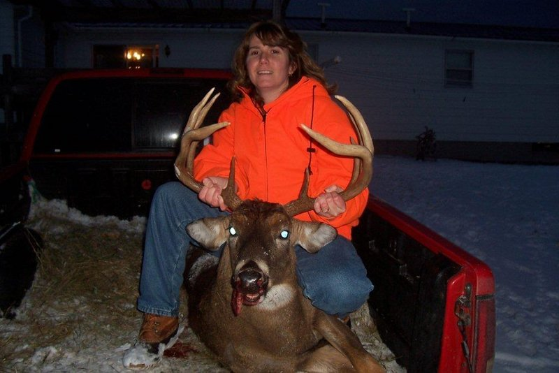 Tracey Rotondi of Athens, Somerset County's treasurer, shot a 10-point buck on Dec. 7 during the muzzleloader season. Rotondi used a Traditions .50-caliber