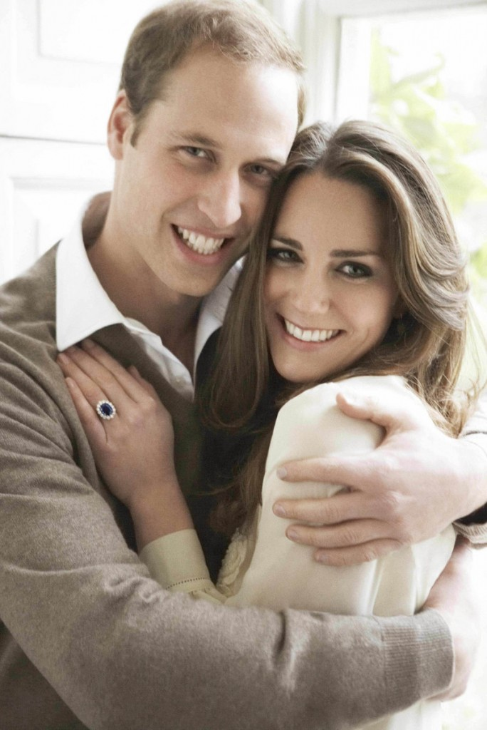 """Two official photos of Prince William and his fiancee, Kate Middleton. """"Never have I felt so much joy as when I see them together,"""" said the photographer."""