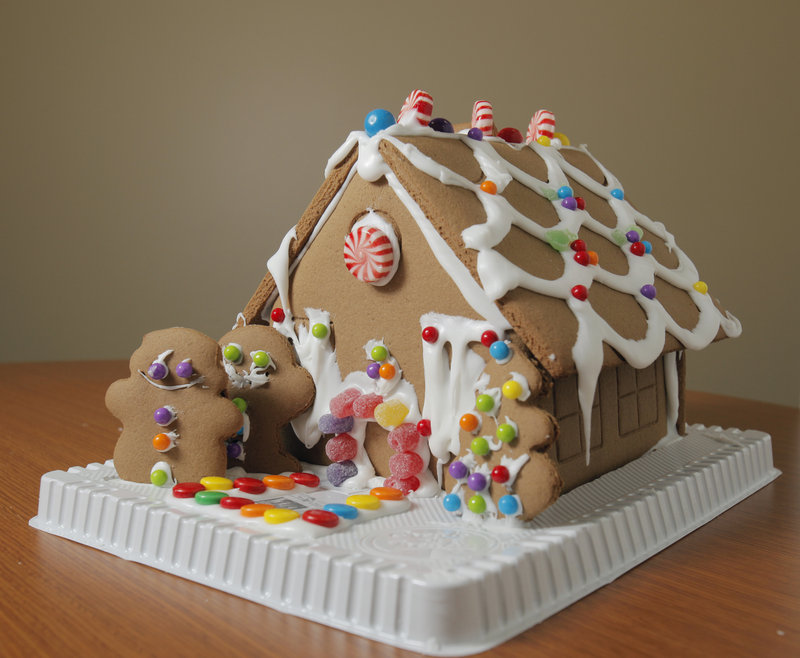 The Create a Treat gingerbread house kit is one of several sold at Bed, Bath & Beyond.