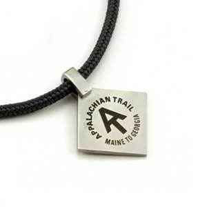 Purchases of jewelry featuring Appalachian Trail hikers, blazes and logos benefit trail conservation.