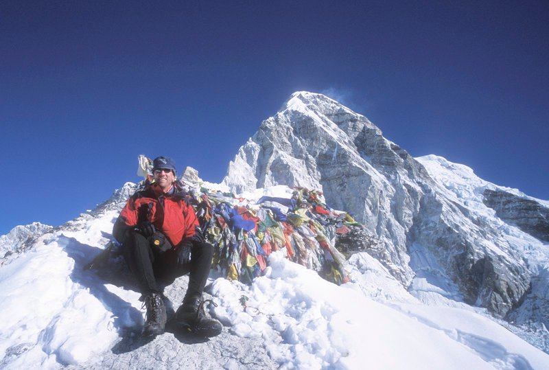 Bill Yeo of Durham gathered evidence of elevated pollution levels on Everest.