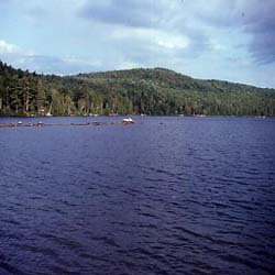 This is a summertime view of Lake George Regional Park, which is located in Skowhegan and Canaan.
