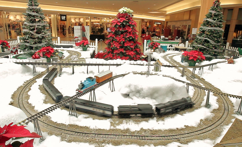 Modelrains run on an elaborate set-up at the Maine Mall in South Portland.
