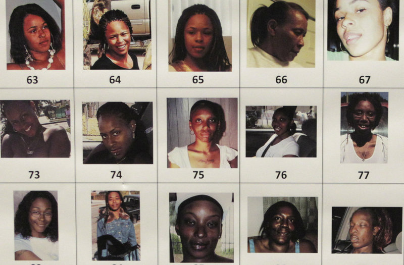 Photographs found in the possession of Lonnie Franklin Jr., released Thursday by police in Los Angeles, depict some of the roughly 160 women who authorities are trying to identify. The 160 women range from young teens to 60-somethings, and some appear to be asleep.