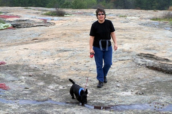 Shown with her dog Onyx in 2007, Susan Caldwell, 43, who has Huntington's disease, has sued to be allowed to seek the advice of a right-to-die group if she wants to end her life.