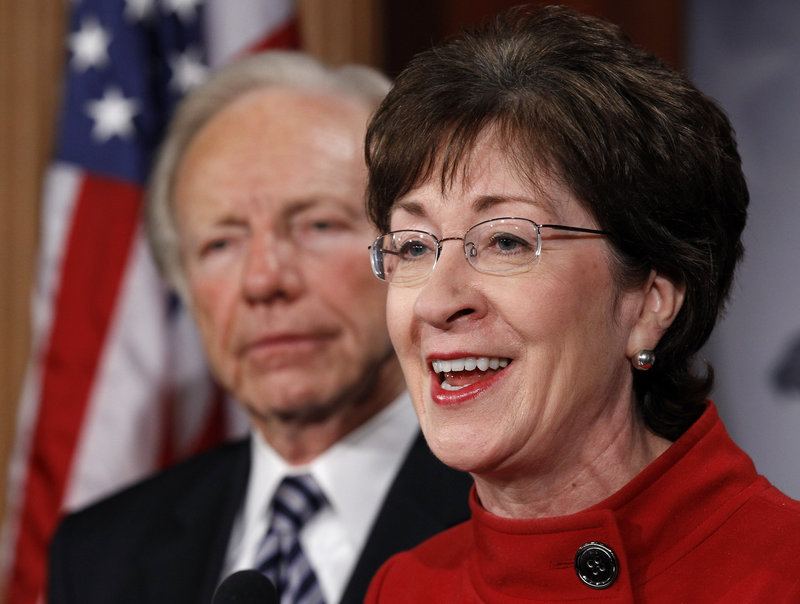 U.S. Sen. Susan Collins, R-Maine, talks about the repeal of the military's