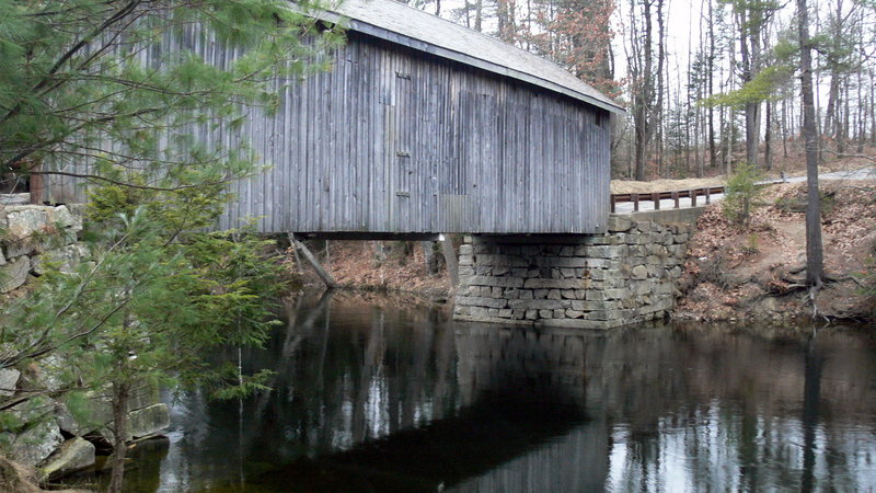 Babb Bridge crosses the Presumpscot River in South Windham. The new Presumpscot Woods WISE Incentives Project is designed to protect timberland and water quality.