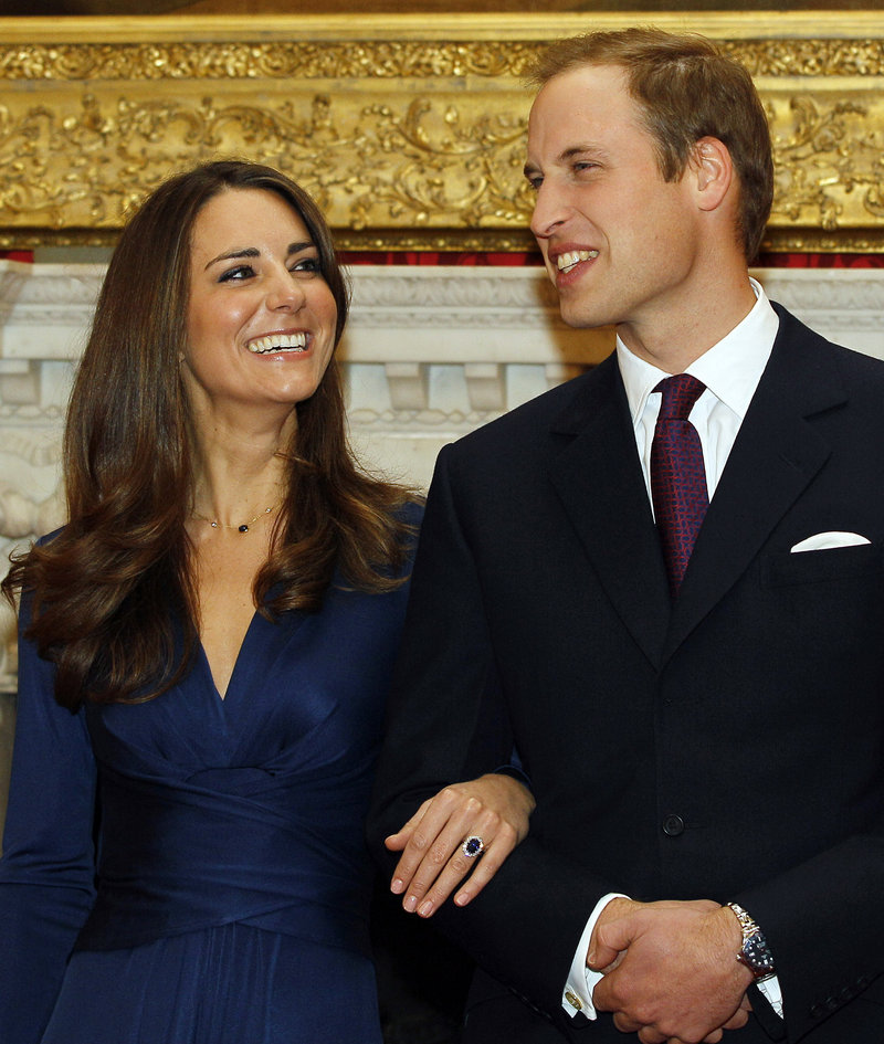 Prince William and his fiancee, Kate Middleton, pose after becoming engaged. References to Middleton as a commoner are igniting heated debate about pedigree and status in Britain.