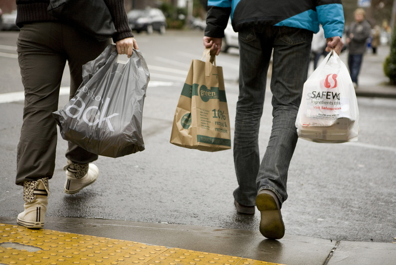 A Daly City, Calif., councilman is proposing a ban on plastic bags at supermarkets and other retailers with stores larger than 10,000 square feet.