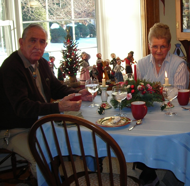 Barbara Crummett and her husband, Clayton, are shown on Christmas in 2009. They were married for 65 years.