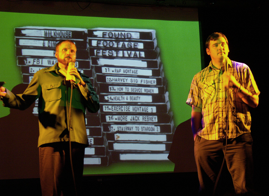 Nick Prueher and Joe Pickett started the Found Footage Festival, a pastiche of kitschy video tidbits they've collected over the years.