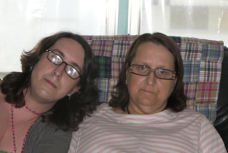 Diane Saindon, seated right with her daughter Nikki, is a sister of Gov.-elect Paul LePage. Health issues will prevent her from traveling to Maine from Florida to attend her brother's inauguration, but she says she will call today to congratulate him.