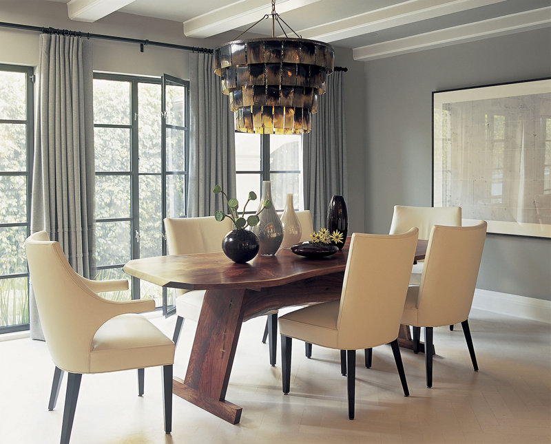 As comfort has become a priority, pretty but unforgiving chairs are definitely out. Designer Betsy Burnham advises testing out new dining chairs before you buy them, since you want your table to be a place where people will enjoy lingering for hours.