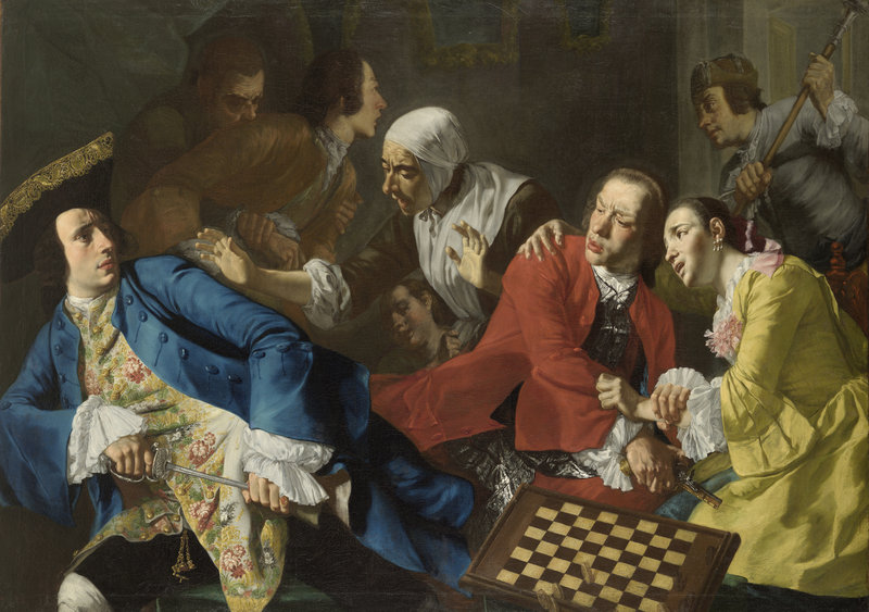 "Gaspare Traversi's ""The Quarrel,"" circa 1752."