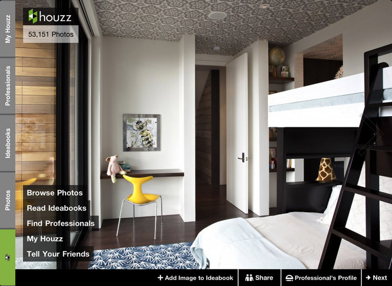 The Houzz app is a free phone app that contains more than 70,000 photos of rooms, homes and landscape projects.