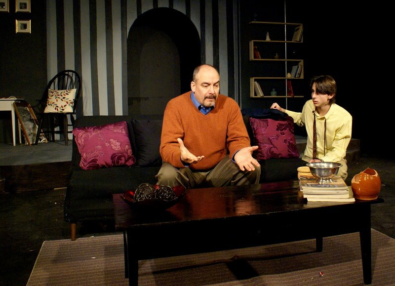"""James Herrera and Benedetto Robinson in """"The Goat, or Who Is Sylvia."""""""