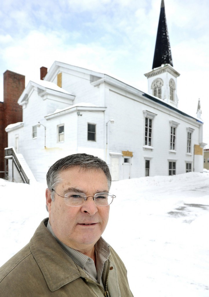 Norman Parisien, Signature Realty, is the listing agent for Seacoast Chapel on Jefferson Street in Biddeford.