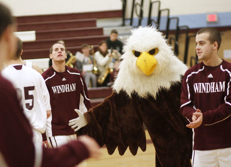 Chris Frost became the mascot at Windham High two years ago and has been entertaining fans ever since at football and basketball games.