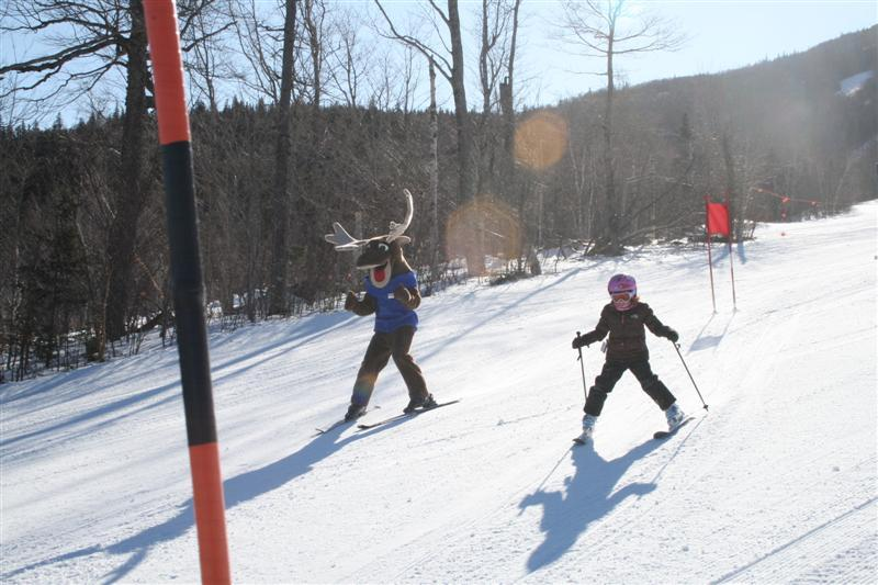 During Saturday's Charity Challenge Race at Sugarloaf, you can compete against Amos the Sugarloaf moose, Red Sox legend Jim Lonborg or anyone you choose.