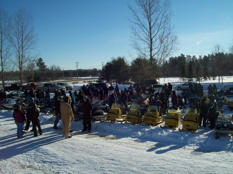 More than 80 riders turned out for the third annual Vintage Snowmobile Ride on Jan. 15, sponsored by the Paul Bunyan Snowmobile Club in Bangor.