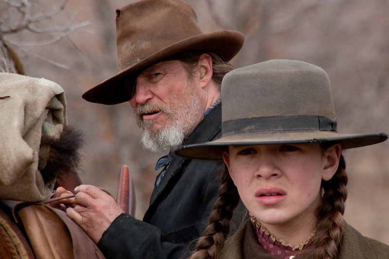 Jeff Bridges, left, and Hailee Steinfeld are shown in a scene from