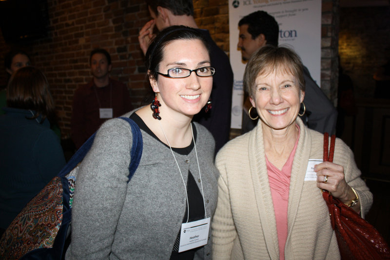 Heather Sullivan of CIEE with her mentor, Polly Haight Frawley of Crossroads for Women.