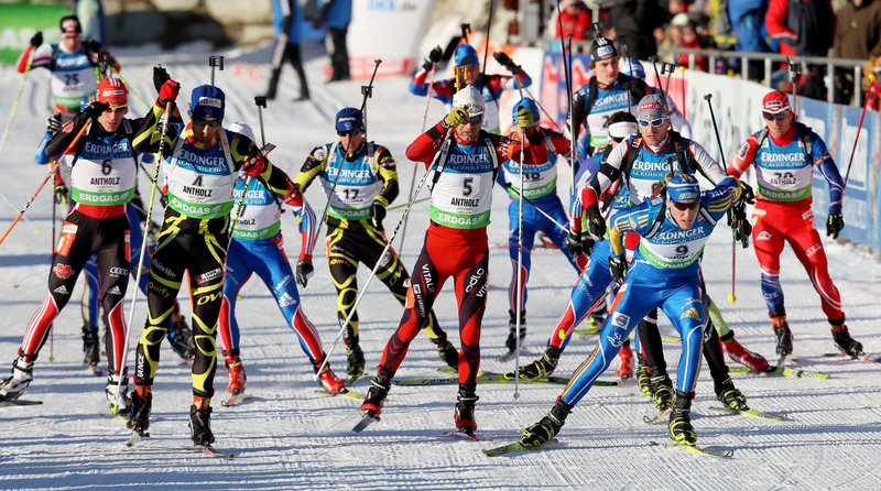 And off they go, thrilling a crowd at the start of a World Cup race. The event in Aroostook County is expected to draw 35,000 spectators over seven days. The television audience in Europe is expected to reach 120 million. The most-watched U.S. show ever drew 106.5 million.