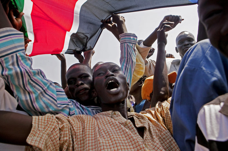 Southern Sudanese celebrate the announcement of preliminary referendum results in the southern capital of Juba on Sunday. Nearly 99 percent of all voters cast ballots in favor of southern independence, poll officials reported.
