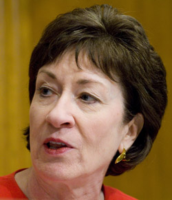 """Sen. Susan Collins, R-Maine, says the Department of Homeland Security """"must continue to analyze the right mix of resources, ensuring there is effective use of personnel, technology, and international, state, and local agency partnerships that allow the border be open to our friends, but closed to those who would do us harm."""