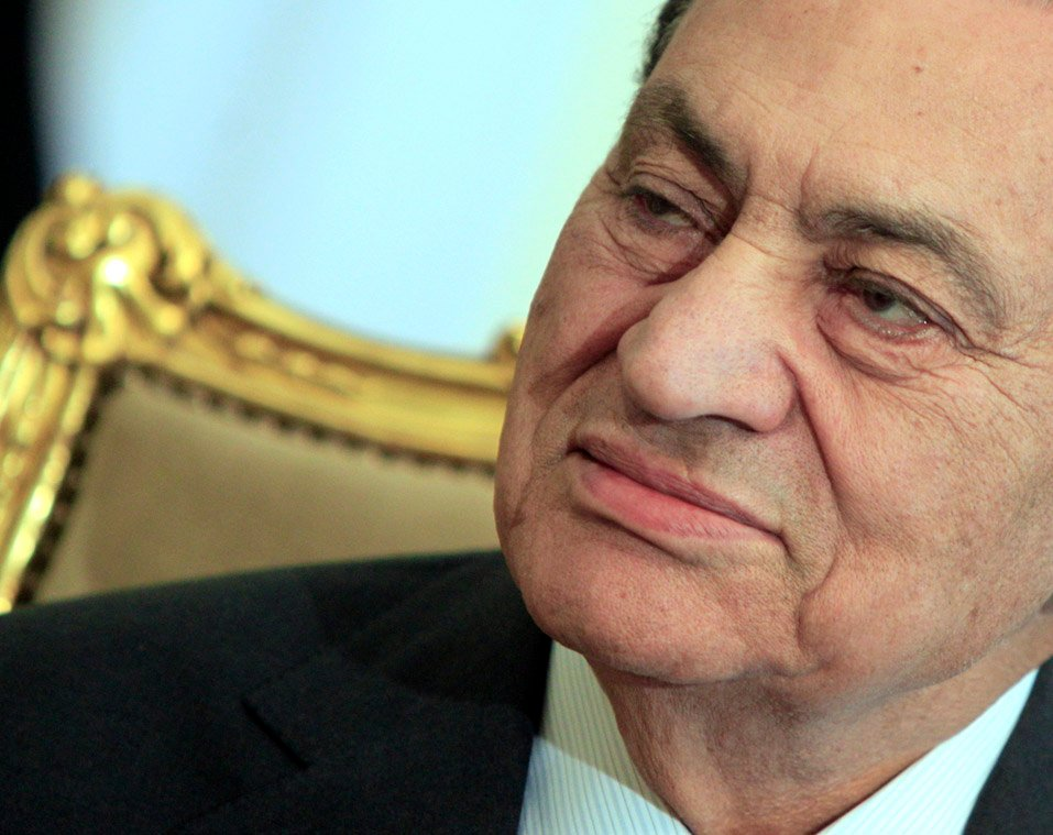 A Feb. 8 photo of Egyptian President Hosni Mubarak, who is expected to resign from office today.