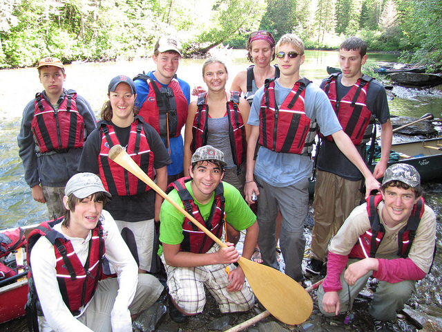 The East Grand School outing club was one of 17 recipients of a Teens to Trails grant.