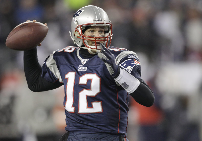 Tom Brady, the AP's offensive player of the year, threw for touchdowns 36 times this season, and was intercepted only four times.