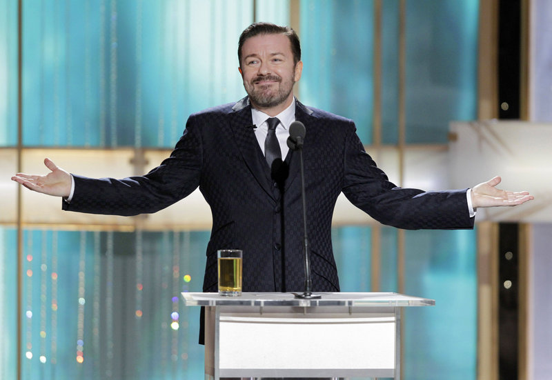 Ricky Gervais won't hesitate to throw in a barb or two about celebrity relationship drama.