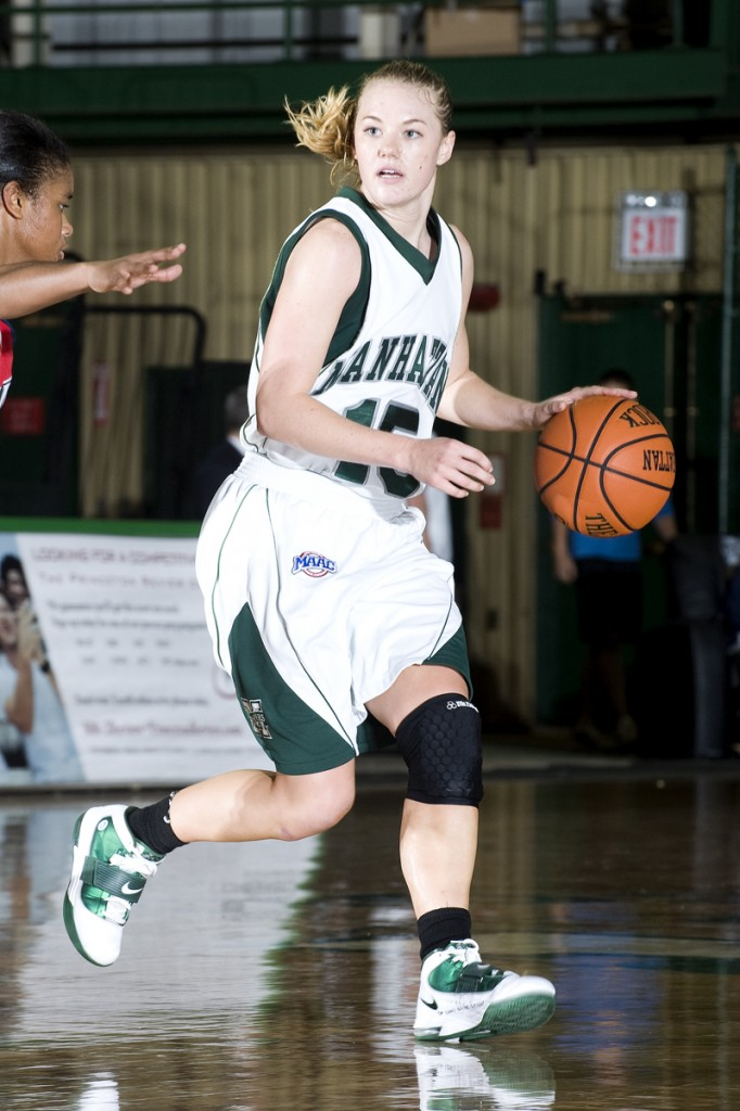 Abby Wentworth, the former McAuley player, has been a four-year regular at Manhattan College, but she's flourishing as a senior since moving to point guard.