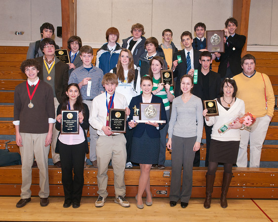 The Falmouth High School debate team placed first in the state championship held in Readfield last month.