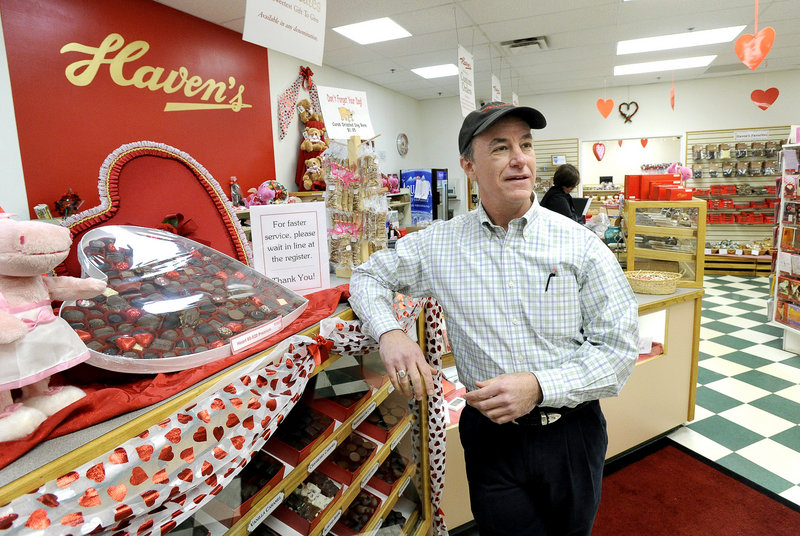 Andy Charles, who bought Haven's Candies in 2001, is a former submariner who had no prior experience in the candy industry.