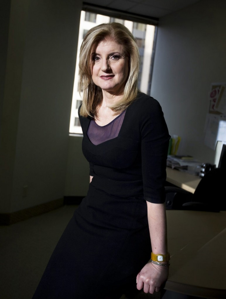 Arianna Huffington, media star and co-founder of the The Huffington Post, will run AOL's growing array of content when the deal closes later this year.