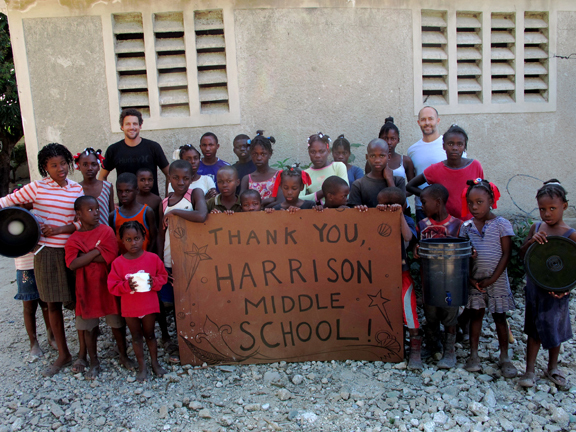 Children at La Maison du Sourire orphanage outside Port au Prince send thanks to Yarmouth students.