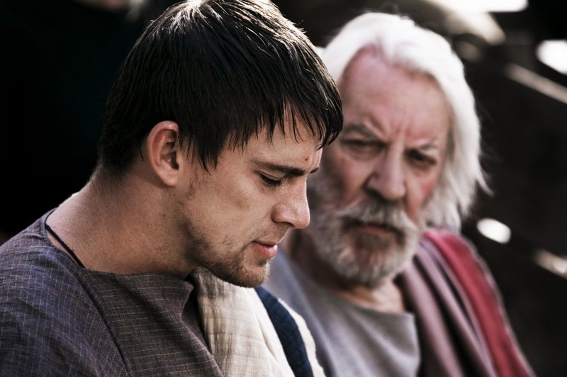 Channing Tatum, left, and Donald Sutherland in a scene from