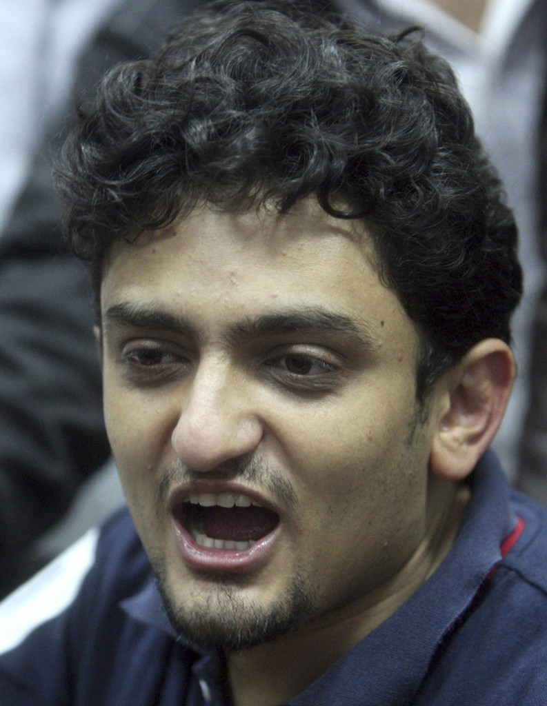 """Wael Ghonim, a young leader of Egypt's protesters, said Tuesday, """"Those who were martyred are the heroes."""""""