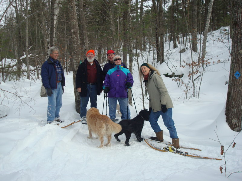 The Blandings Park Wildlife Sanctuary, where hikers are shown on a recent outing, invites one and all to bring snowshoes, cross-country skis or high boots to join a winter hike through the Biddeford preserve at 11 a.m. Feb. 26. For those interested in geocaching, go online to www.geocaching.com and download the coordinates for the Blandings Park caches. For more information or to RSVP, go online to www.bpws.org.