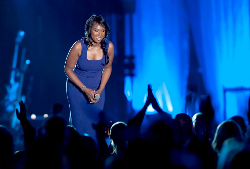 Jennifer Hudson, seen last October in Las Vegas, discussed her efforts to get past the murder of her mother, brother and nephew in an interview with Oprah Winfrey on Thursday.