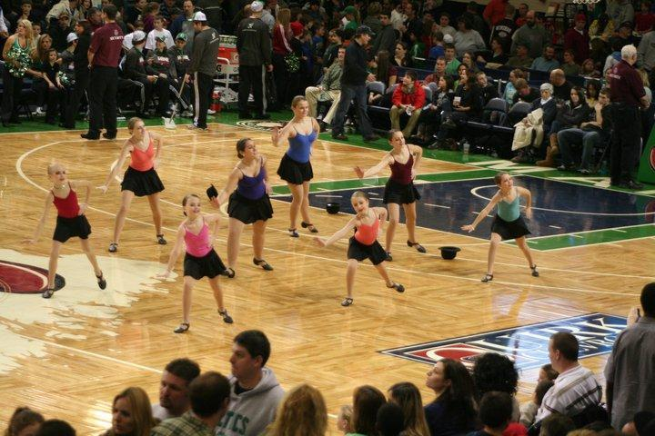 Dancers from Drouin Dance Center of Westbrook perform the halftime show at the Maine Red Claws Game Jan. 30. The dance center also performed there last year.