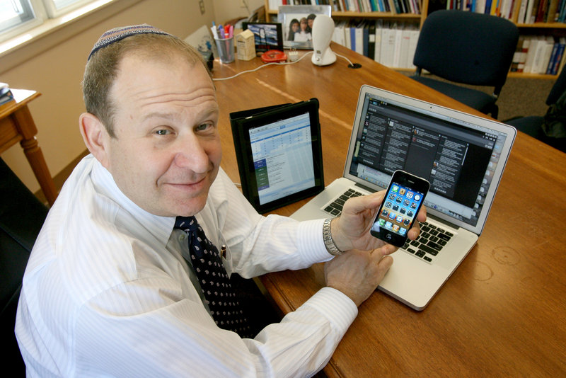 "Rabbi Philip Warmflash in Melrose Park, Pa., says using Twitter and Facebook ""does what clergy have always done – it creates and sustains relationships."""