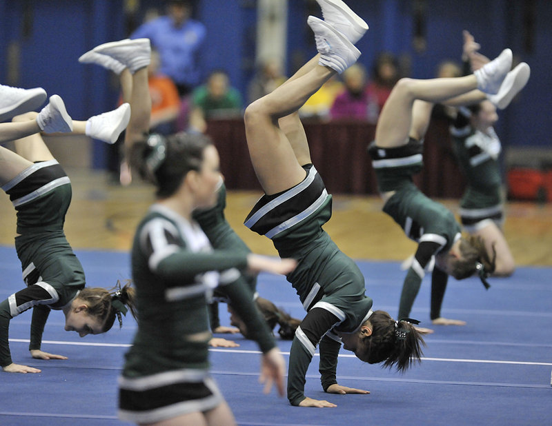 Bonny Eagle may not have won the Class A championship hands-down, but put on a routine that made the ride to the Bangor Auditorium well worth it.