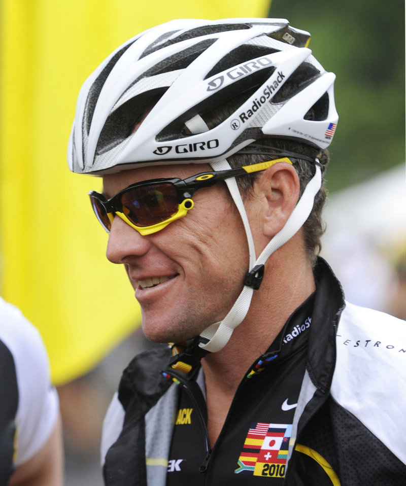 Cyclist Lance Armstrong has been tested hundreds of times over the years for banned substances and has never been found in violation.