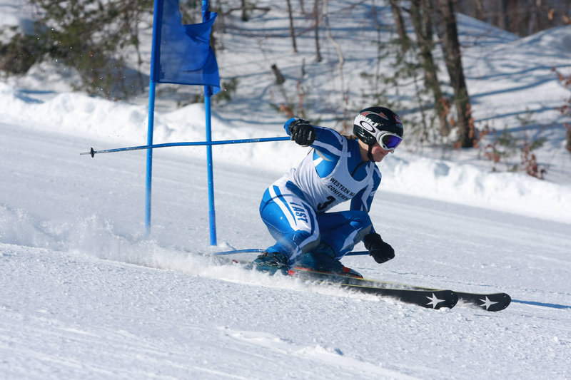 Christina DiPietro, a 15-year-old sophomore, is the best Alpine skier on a good Fryeburg Academy team despite dealing with an eye disease that limits her range of vision on the slopes. She'll compete in the state championship meet Saturday in Presque Isle.