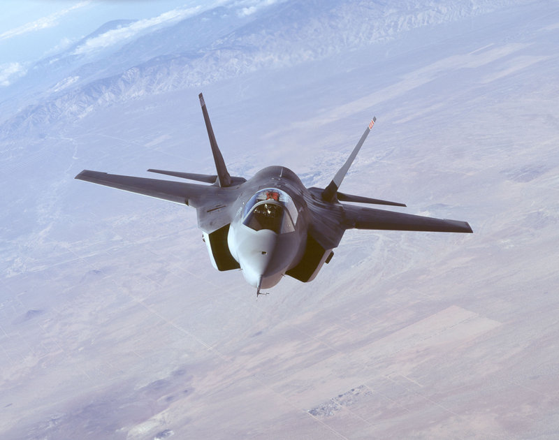 F-35 Lightning II Joint Strike Fighter in flight.